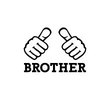 Brother thumbs Photographic Print