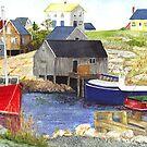 Peggys cove Nova Scotia by conniecrayon