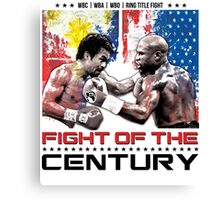 Pacquiao Mayweather shirt Canvas Print