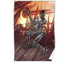 Flamethrower Guitar 006 Poster