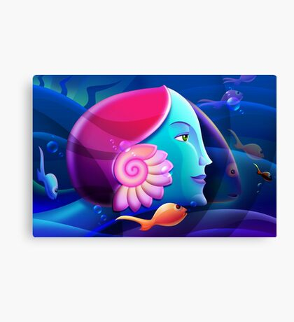 Underwater Fantasy Wall Fine Art Canvas Print