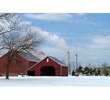 Barn & Smokestack Photographic Print