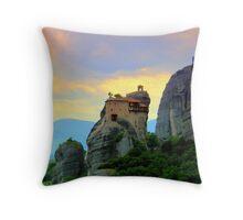 Meteora, Greece Throw Pillow