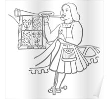 A Complete Guide to Heraldry - Figure 17 — A State Trumpeter (Temp Hen VIII) Poster