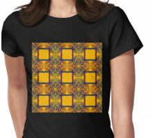 overlapping tree silhouettes Womens Fitted T-Shirt
