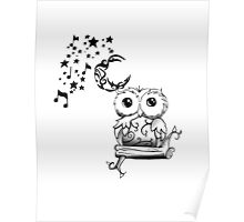 Intricate Owl at Musical Midnight Poster