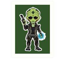 Mass Effect 3: Thane Krios Chibi Art Print
