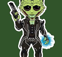 Mass Effect 3: Thane Krios Chibi by SushiKittehs