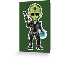 Mass Effect 3: Thane Krios Chibi Greeting Card