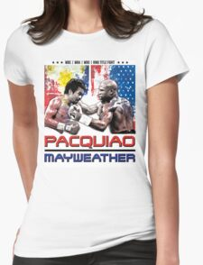 Pacquiao Mayweather shirt Womens Fitted T-Shirt