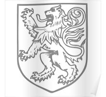 A Complete Guide to Heraldry - Figure 283 — A lion rampant (By Miss Helard) Poster