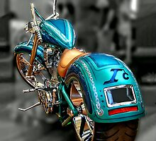 Blue Chopper by Steven  Agius
