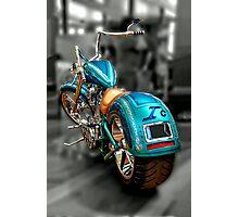 Blue Chopper Photographic Print