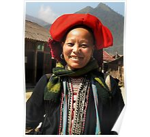 Red Dzao Hilltribe Woman - northern Vietnam Poster