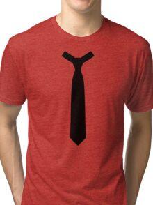 Black tie necktie Tri-blend T-Shirt