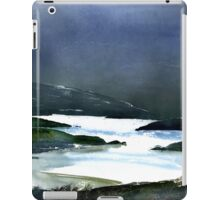 Icy white waters in forest black onyx mountains iPad Case/Skin