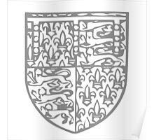 A Complete Guide to Heraldry - Figure 717 — Edmund of Langley, Duke of York, fifth son of King Edward III Poster