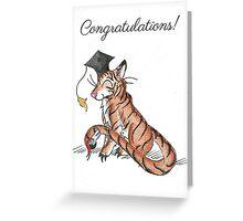 Tiger Grad Greeting Card