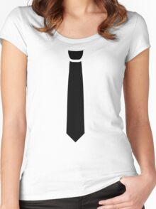 Black necktie  Women's Fitted Scoop T-Shirt