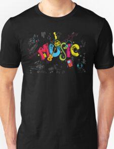 Music Instruments Collage Unisex T-Shirt