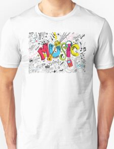 Music Instruments Collage T-Shirt