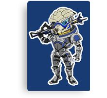 Mass Effect 3: Garrus Vakarian Chibi Canvas Print