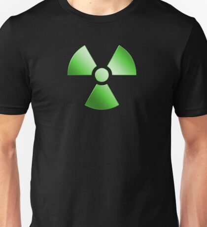 Radioactive Symbol Warning Sign - Radioactivity - Radiation - Green Unisex T-Shirt