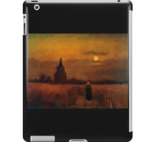 'Fields' by Vincent Van Gogh (Reproduction) iPad Case/Skin