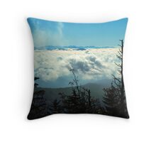CLOUDS, CLINGMANS DOME Throw Pillow