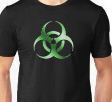 Biohazard Symbol Sign - Acid Green - Metallic Unisex T-Shirt