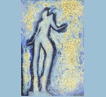 """""""Girl dancing in swirling blues and yellows"""" an analog darkoom photographic print / painting Unisex T-Shirt"""