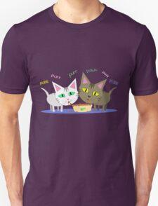 Happy Cats Eating T-Shirt Unisex T-Shirt