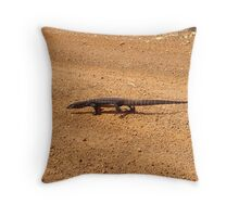 Why did the lizard cross the road Throw Pillow