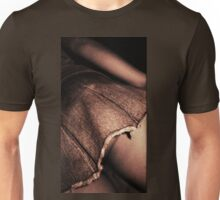Young lady in short skirt a voyeuristic analog 35mm panoramic analog film photo Unisex T-Shirt
