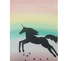 Rainbow unicorn  Photographic Print