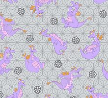EPCOT Center Figment pattern by Jou Ling Yee
