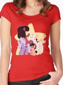 My Little Steven Universe (Steven Universe MLP Style) Women's Fitted Scoop T-Shirt
