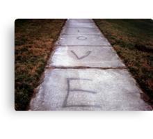 Sidewalk Love  Canvas Print