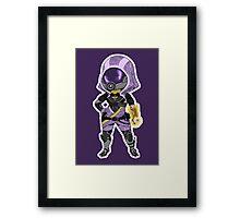 Mass Effect 3: Tali'Zorah nar Rayya Chibi  Framed Print
