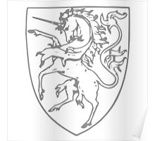 A Complete Guide to Heraldry - Figure 417 — Unicorn rampant Poster