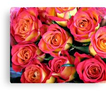 Roses of Fire Canvas Print
