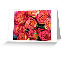 Roses of Fire Greeting Card