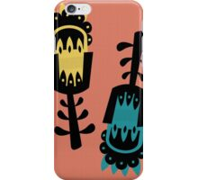 Giant colourful florals iPhone Case/Skin