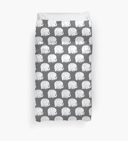 mod baby elephants grey Duvet Cover