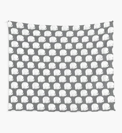 mod baby elephants grey Wall Tapestry