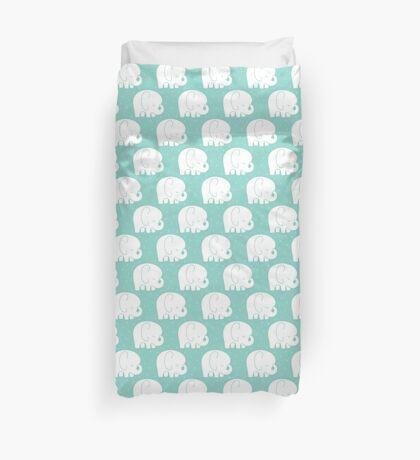 mod baby elephants mint Duvet Cover