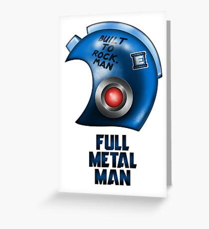 Full Metal Man Greeting Card
