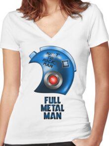 Full Metal Man Women's Fitted V-Neck T-Shirt