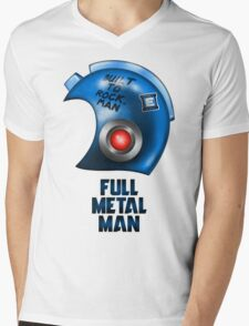 Full Metal Man Mens V-Neck T-Shirt