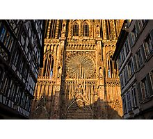 Dusk Shadow on Strasbourg Cathedral Photographic Print